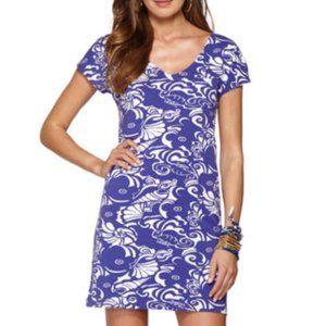 Lilly Pulitzer Daniella Dress Blue Tide Pools XS